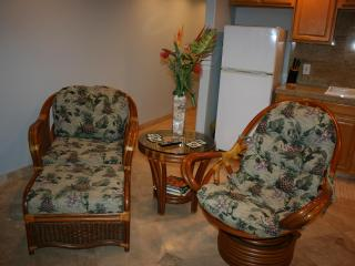 Chair with ottoman, Rocking Chair and End Table