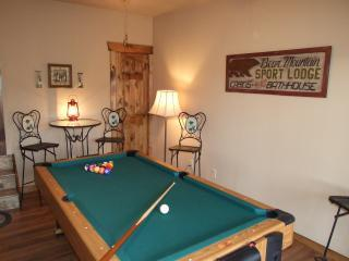 Enjoy the new pool table and air hockey in the lower level Rec Room