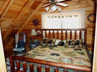 Sleep Like a Baby Bear In the Upper Level Master Bedroom With King Sized Bed!
