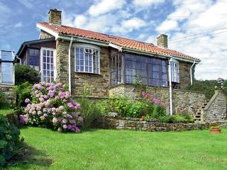 BRACKEN EDGE, pet friendly, country holiday cottage, with a garden in Sleights