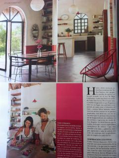 Picture of interiors published in 'Hola magazine'