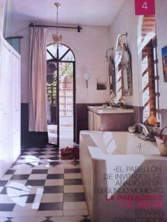 Picture of master bath published in 'living' magazine