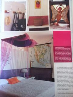 Picture of master bedroom published in 'living' magazine