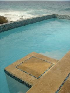 Take a dip in the pool to cool off