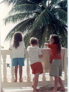 Three Cousins Watching the Sea From the Porch