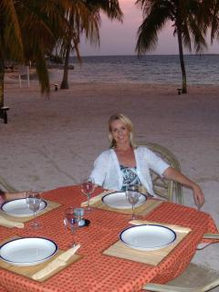 Our Patio Table on the Beach