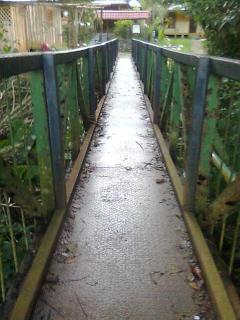 Hanging bridge to the local village