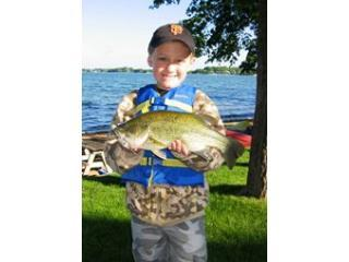 Ben with a nice Large Mouth Bass