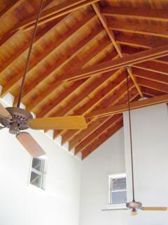 Amazing wood ceiling throughout!