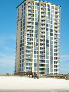 Beach Side View of the Caribbean Resort on Navarre Beach