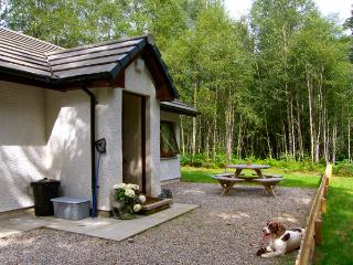 LEVISHIE ground floor lodge, pet-friendly, river views, in Invermoriston, Ref 2514