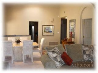 Open dining area and living room w/ sectional & TV/DVD