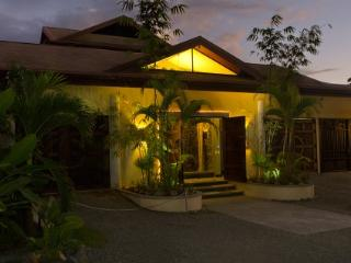 Front entrance Villa Perezoso; be greeted by our top rated staff and a waterfall..