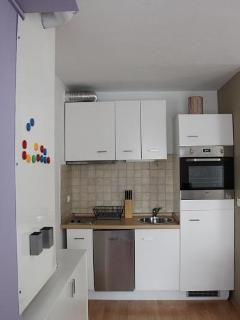 kitchen - a view from dining area
