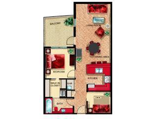 Floorplan of Condo