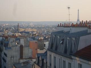 Blick über Paris von der Straßenseite Buiding (nicht von der Ferienwohnung)