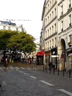 The abbesses area on Montmartre mid-hill