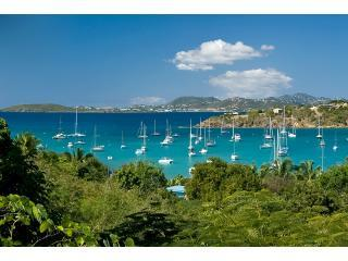 View overlooking Great Cruz Bay towards St Thomas