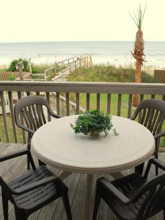 Eat outside on the deck.  Here is your view.