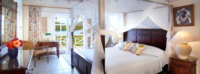 Arriba, dormitorio principal.