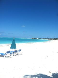 Beach in front of the Ocean Villas