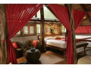 Honeymoon Villa, watch the waves as the roll unto the beach just steps away from your king sizb