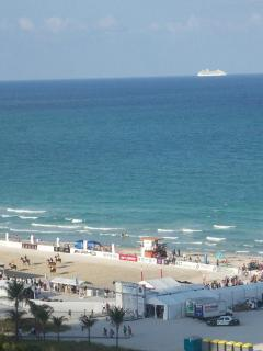 Beach Polo and Cruise Ship View from room