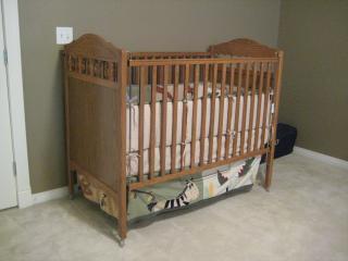 Cuna de madera para tu bebé!