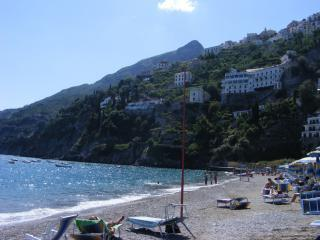 The nearby beach in Vietri Marina