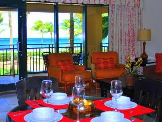 Dining area with great ocean views