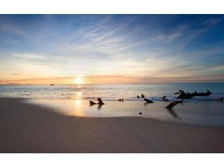 Sunset on Ffreyes Beach