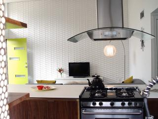 Watch the widescreen HDTV while cooking in the Chef's Kitchen