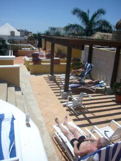 Private Rooftop Patio next to Pool