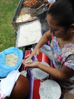 Hand made fresh corn tortillas!