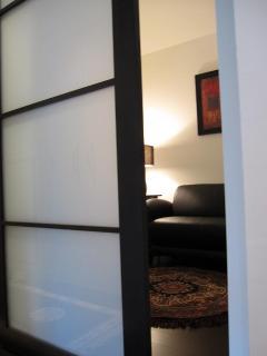 Cozy Den With Privacy Glass Door