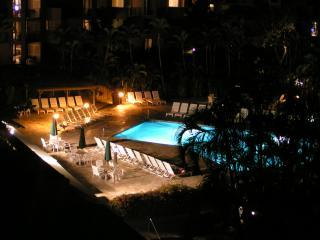Night View of Pool From Lanai
