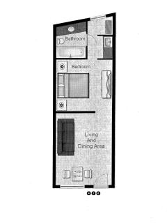 Unit 416 Floor Plan - Not To Scale