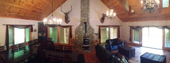 Panoramic view of the Great Room!