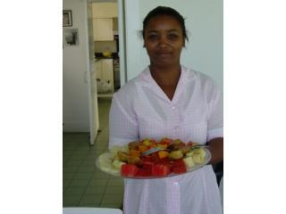 Maid with Morning fresh fruit