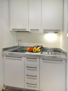 The well-fitted kitchen