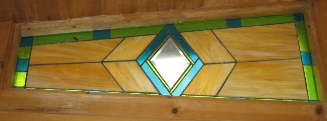 Custom Stain Glass in Sunroom