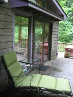 Chaise lounge seating by Sunroom