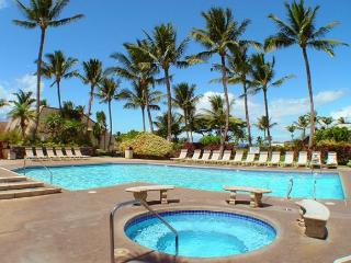 Beautiful 2b/2b tropical garden view condo across from Kamaole III Beach Park