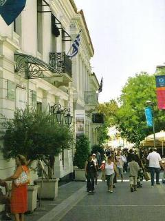 This is our neighborhood!! perdestrian streets & coffee shops all around!