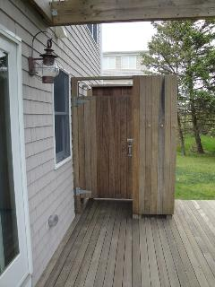 Deck and outside shower