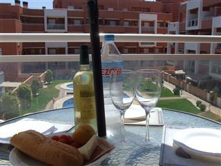 Al Fresco dining on the terrace, overlooking the pool
