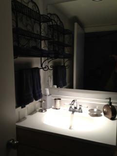 Lower level, third bathroom sink