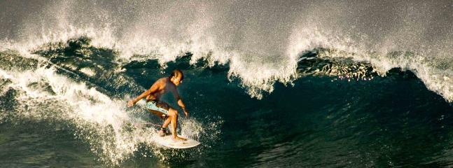 Taken from the Lanai - so much fun watching these local surfers!