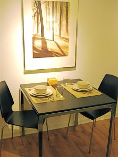 Dining table and chairs for 2
