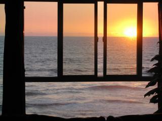 Coucher de soleil vue depuis la cuisine